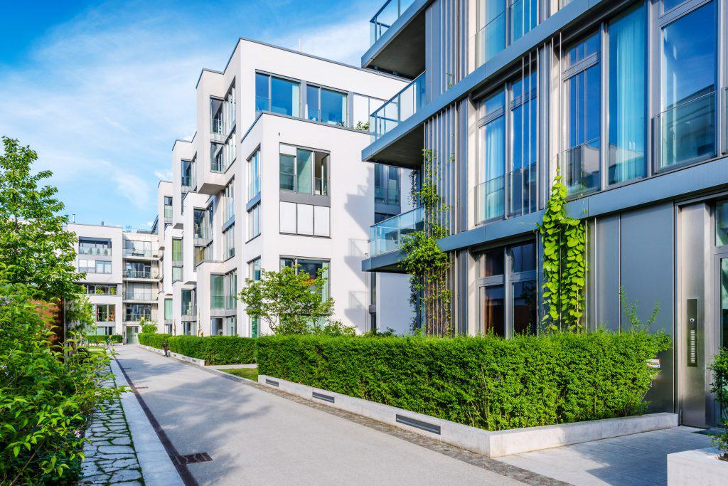 New white apartment houses in Berlin, Germany